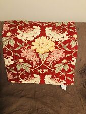 "Pottery Barn Flowers Euro Pillow Sham Cover Zip Closure 24x24"" Euc"