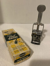 Vintage Peerless King Size Price Marker Model 15 Never Used With Box
