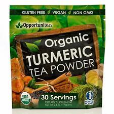 Organic Turmeric Tea Powder Matcha Green Tea Turmeric Cinnamon Ginger NEW