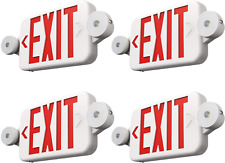 Freelicht 4 Pack Exit Sign With Emergency Lights Two Led Adjustable Head Exit