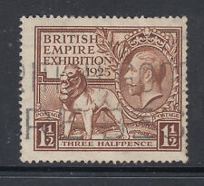 Great Britain Sc 186 used 1925 1½p British Empire Exhibition, F-Vf
