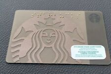 Starbucks Canada Coffee Brown Gold Braille Embossed 2015 Gift Card No Balance