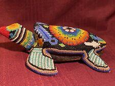 Beautifully Beaded On Wood Sea Turtle