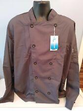 Men's Long Sleeve Active Chef Coat Slate Size Xl