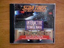 "Star Trek: The Next Generation ""Interactive Technical Manual� Cd-Rom—Windows"