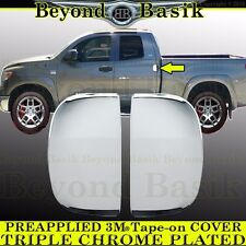 2007-2018 TOYOTA TUNDRA Extend Double Cab TRIPLE CHROME Door Handle Rear COVERS