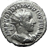 GORDIAN III 240AD Rome Authentic Genuine Ancient Silver Roman Coin SOL i60143