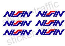 Nissin 6x Aufkleber Bremsanlage Kolben Tuning Racing Motorsport Nissin Autosport