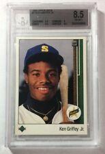 1989 Ken Griffey Jr. Upper Deck Rookie Card Beckett Mint 8.5 SKU#13007
