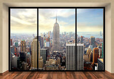 "MURALE Parete NEW YORK CITY SKYLINE ""PENTHOUSE"" Foto Carta da parati 366x254cm Wall Art"