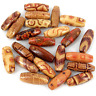 500 x Large Wooden beads ~mixed patterns~23x8mm New Rice beads Mix W399