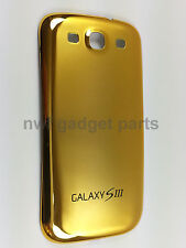 New S3 GOLD Chrome  Battery Back  Cover Case Housing For Galaxy S3 i9300 -US