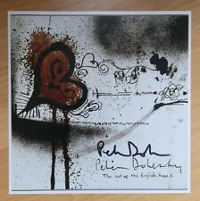 Blood painting Pete Doherty Hand Signed Photo puta madres The Libertines music