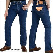 501 Levi's Jeans Stonewash In blau Gr. 32/34 für Herren