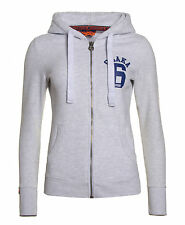 New Womens Superdry Unique Sample Osaka Sport Zip Hoodie Ice Marl Size Small