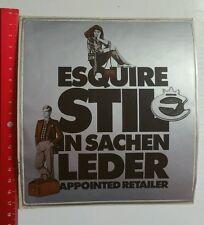 Aufkleber/Sticker A4: Esquire Stil in sachen Leder Apppinted Retailer (0303166)