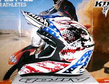 Airoh cr901 patriot Cross casco yamaha yz-f nuevo enduro quad l azul rojo blanco suomy
