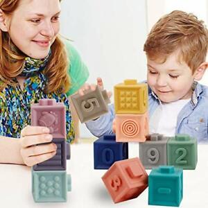 Bausteine Baby Building Blocks 3D Soft Squeeze Block Beißringe Pädagogische Neue