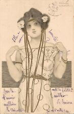 Artist Signed - Raphael Kirchner Lady Greek Virgin 04.76