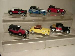 MATCHBOX MOY TOYS DIECAST BUNDLE OF SIX CARS ROLLS ROYCE BUGATTI DUESENBERG