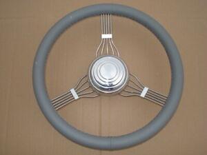 Banjo Steering Wheel Grey Model A 1932 33 34 35 36 37 38 39 40 Ford Rat Hot Rod