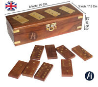 Dominoes Game Box  Wooden Handmade Travel Game /Perfect gift Traditional 28pc
