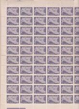 Liberia # C42 (95) MNH Near Full Sheet 1942 Air Mail Set Map Airpalne