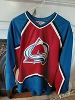 Vintage Colorado Avalanche CCM NHL Hockey Jersey Sz Men's Large Patrick Roy