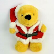 Winnie the Pooh Santa Christmas Vintage 1991 Disney Plush Stuffed Bear 16""