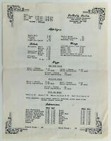 1970's La Bella Sicilia Cheektowaga New York Sicilian Italian Restaurant Menu