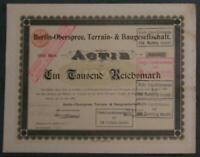 Berlin-Oberspree, Terrain- & Baugesellschaft 1899 1000 Mark