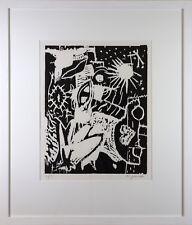 A.R.Penck handsigniert und nummeriert seltener Holzschnitt in niedriger Auflage