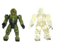 Green Spartan & Clear Camo Brute : Halo Mega Bloks Construx Mattel Figure