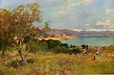 ERNEST WATERLOW 1889 Oil Painting LA COTE D'AZUR Vintage Artwork 1930 Book Print