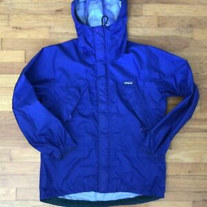 Patagonia Full Zip Windbreaker Rain Jacket Blue Men's Small Royal Blue