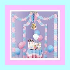 Pink & Blue Decorating Kit for Baby Shower - For Boy or Girl Baby Shower