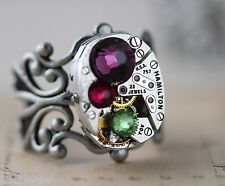 Mothers Ring Mothers Jewelry 1 2 3  Birthstone Ring Steampunk Gift Mom Custom