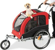 New listing Best Choice Products 2-in-1 Pet Stroller and Trailer Red
