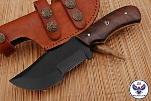 TRACKER 1095 CARBON STEEL TRACKER HUNTING KNIFE WITH WOOD HANDLE - ZS 82