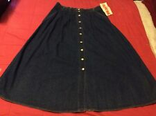 Vtg Nwt Original Jordache Women's Denim Jean Skirt Size 14