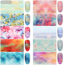 10 Pcs Abstract Painting Nail Art Foil Sticker Transfer Film Manicure Diy