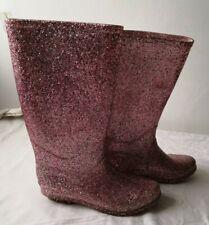 GEORGE Ladies glittery pink wellies size uk 3