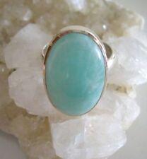 Ring mit Amazonit, Gr. 18,4, 925er Silber