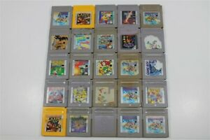 Discounted Game Boy Lot of 25 Games- Wario Land, Yoshi, Final Fantasy Legend
