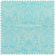 Tessuti e stoffe Blu Floreale in ciniglia per hobby creativi