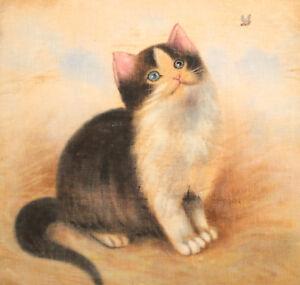 Vintage Cat Kitten Canvas Print