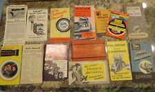 Vintage Lot of 12 Camera Manuals/Book/Pamphlets Lens Catalogs