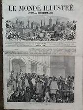 LE MONDE ILLUSTRE 1859 N 106 ENTREE DES ARTISTES LE JOUR DE L'OUVERTURE DU SALON