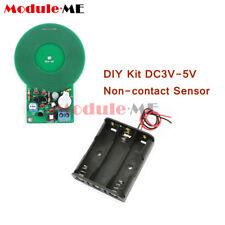 METAL Detector Elettronico 3V-5V 60mm sensore senza contatto Kit fai da te + Scatola Batteria 3xAA