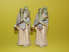 Star Wars Saga 2002 Tusken Raider Female with Child Lot of 2 Loose